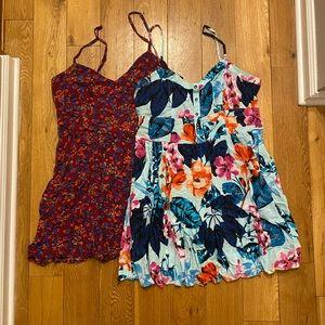 *2 DRESSES* express mini floral dress w/pockets!